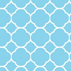 1677 Sky blue quatrefoil