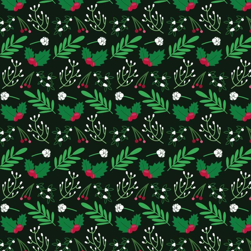 1670 Christmas leaves